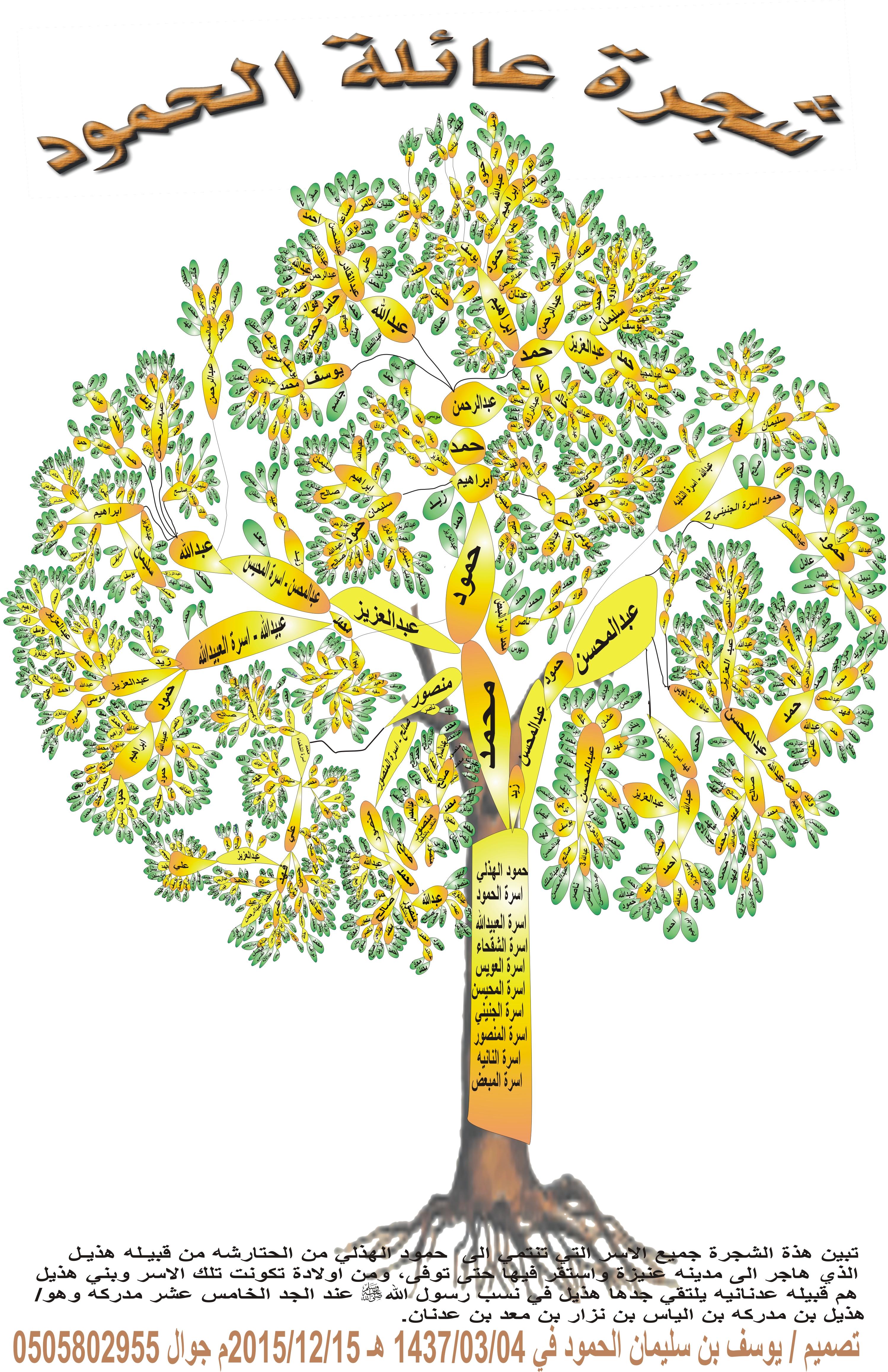شجرة عائله الحمود الكامله 15-12-2015